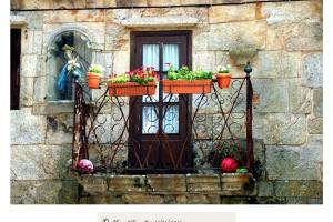 Balcón Virgen hornacina Vilanova dos Infantes Celanova Orense – Imagen: Manuel Ramallo