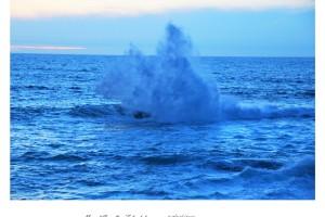 Gran ola rompiendo en el mar Baiona – Imagen: Manuel Ramallo