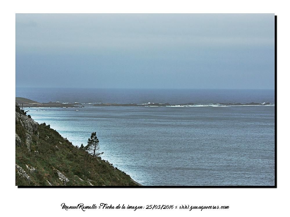 Mar y niebla en la costa de Galicia Baiona - Imagen: Manuel Ramallo