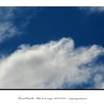 Nubes blancas en un cielo muy azul – Imagen: Manuel Ramallo