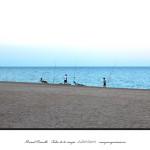 Pescando en la playa de Peñíscola al atardecer – Imagen: Manuel Ramallo