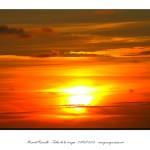 Rojo atardecer con el sol poniéndose – Imagen: Manuel Ramallo