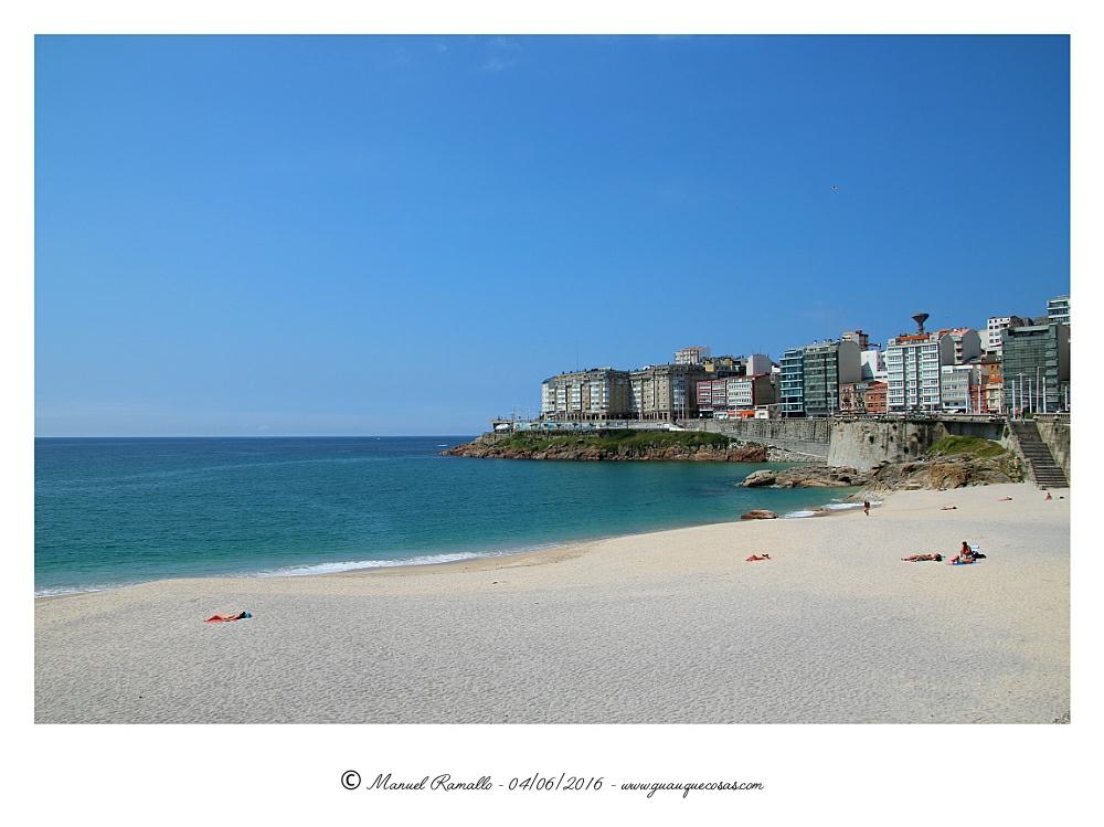 Playa del Orzán A Coruña - Imagen: Manuel Ramallo