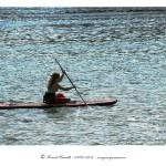 Remando en la playa Santa Cristina Oleiros A Coruña – Imagen: Manuel Ramallo