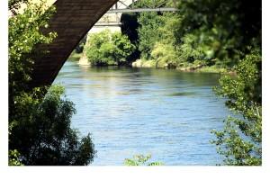 Entre puentes y arcos río Miño Ourense margen derecha Orense