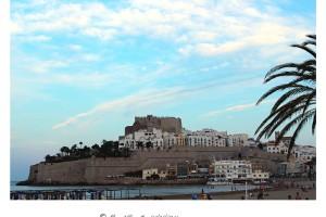 Fortaleza de Peñíscola al atardecer desde la playa – Imagen: Manuel Ramallo