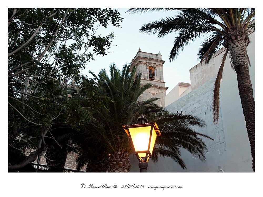 Fortaleza de Peñíscola vista nocturna - Imagen: Manuel Ramallo