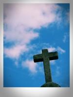 Los Remedios iglrsia cruz Orense margen izquierda río Miño Ourense