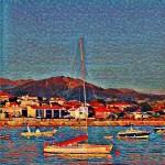 Artwork barcas en el puerto Panxón Autor Manuel Ramallo