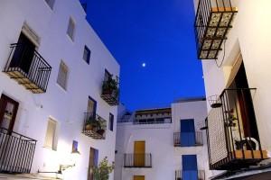 Pueblo Peñíscola de noche Autor Manuel Ramallo