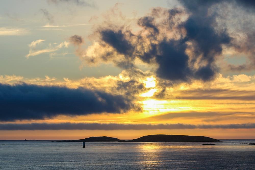 Atardecer en el mar desde playa América Panxón Autor Manuel Ramallo