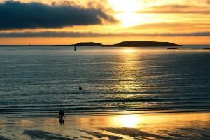 Atardecer en la playa América Autor Manuel Ramallo