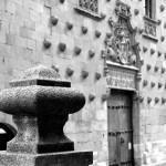Calle de la Compañía Salamanca autor Manuel Ramallo b-n b-w