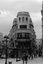 Fachada en b_n b_w Plaza de los Bandos Salamanca Autor Manuel Ramallo