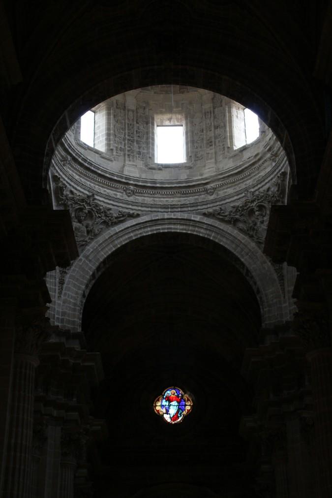 Cúpula y vidriera catedral de Jerez Cádiz autor Manuel Ramallo