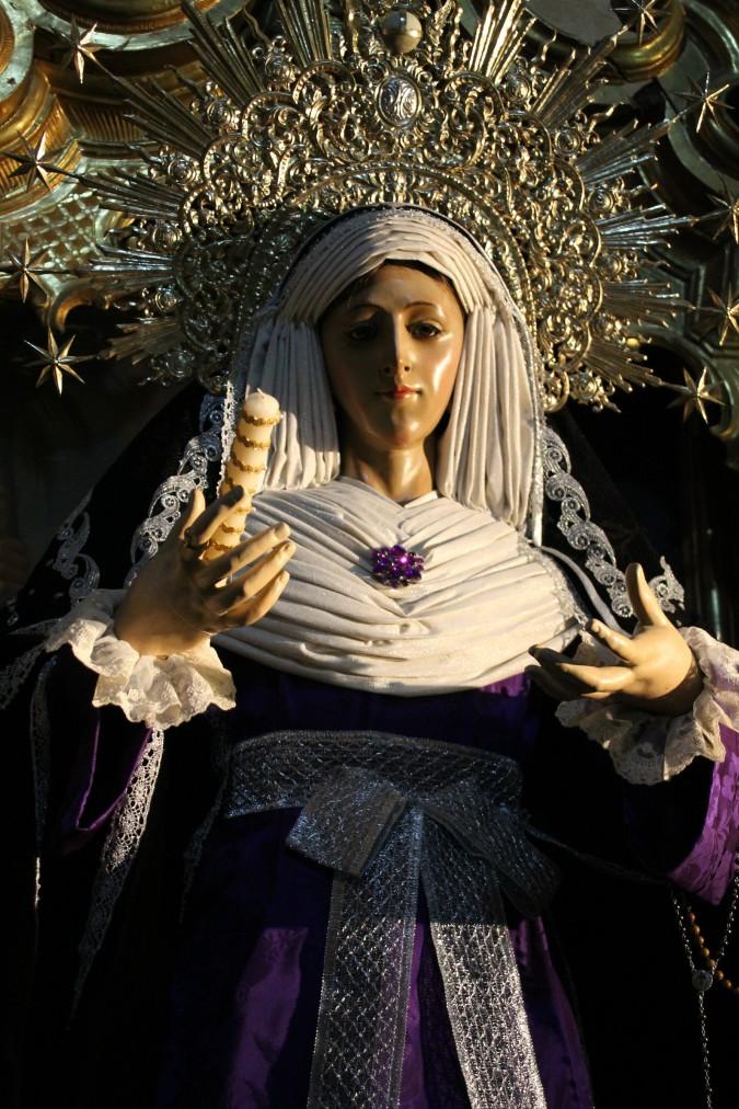 Escultura Virgen catedral Jerez Cádiz autor Manuel Ramallo
