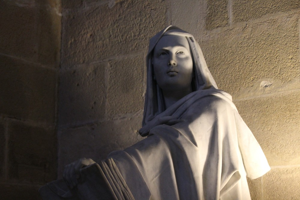 Jerez de la Frontera Catedral escultura en mármol autor Manuel Ramallo