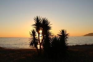 Playa América Puesta de sol atardecer autor Manuel Ramallo