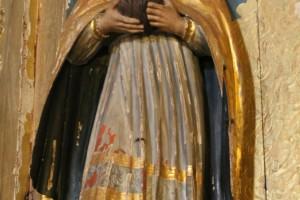 Santo Obispo decapitado con la cabeza en las manos catedral de Jerez de la Frontera Cádiz autor Manuel Ramallo
