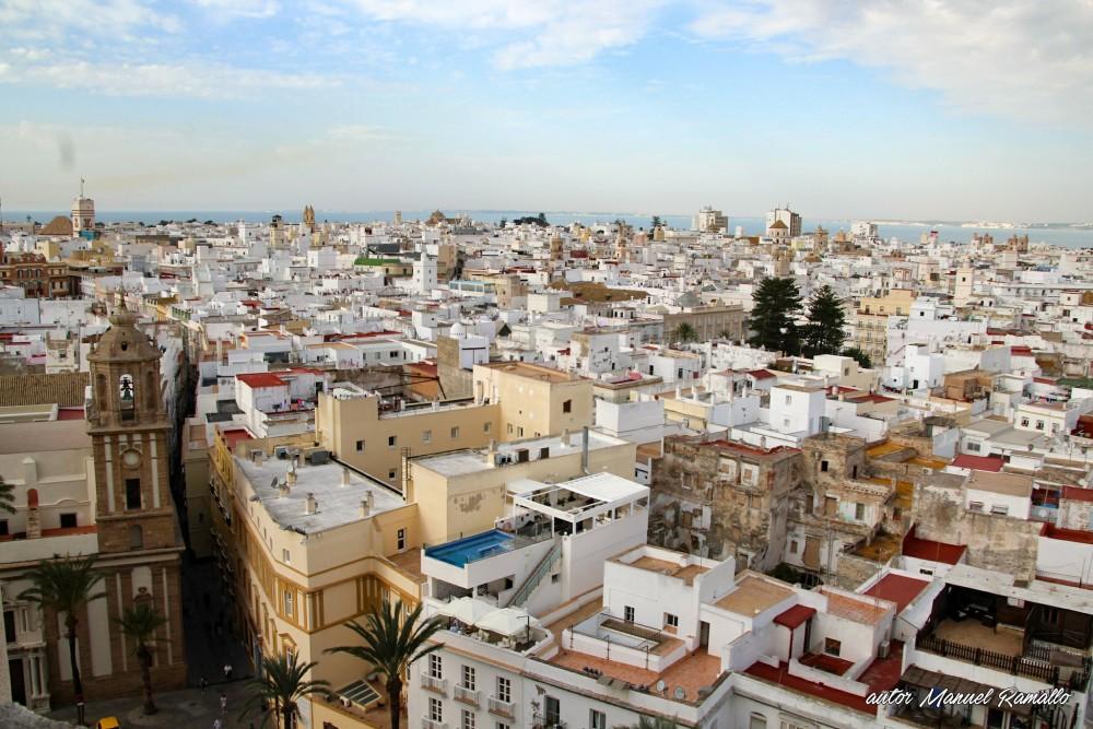 Cádiz desde la torre campanario de su catedral Andalucía