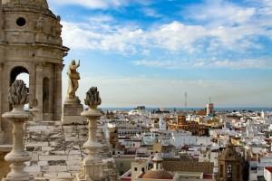 Cádiz vista desde la torre campanario Andalucía