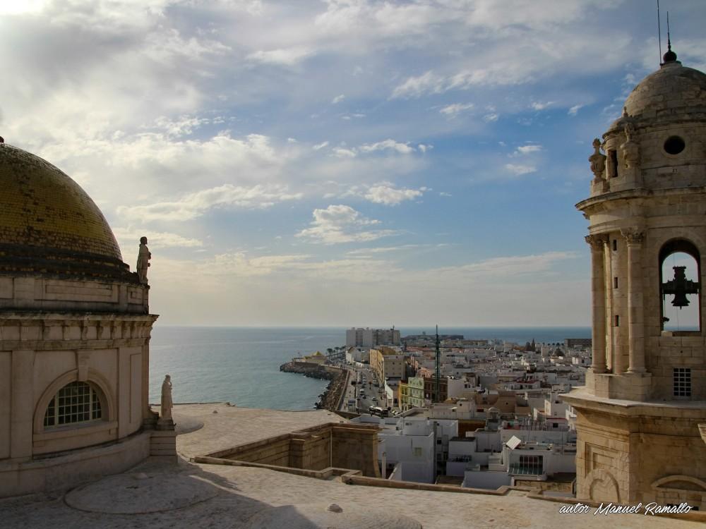 Desde la torre campanario de la catedral de Cádiz