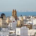 Desde la torre campanario de la catedral se puede ver este paisaje de Cádiz
