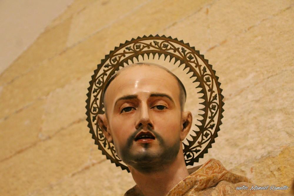 Detalle Escultura de San Bruno en la Catedral de Jerez de la Frontera Cádiz autor Manuel Ramallo