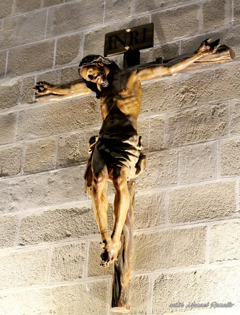 Escultura Cristo Crucificado catedral de Jerez de la Frontera Cádiz autor Manuel Ramallo