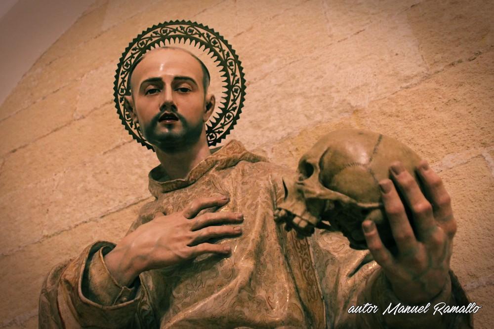 Escultura de San Bruno en la Catedral de Jerez de la Frontera Cádiz autor Manuel Ramallo