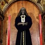 Escultura imagen de Jesucristo en la catedral vieja de Cádiz iglesia Santa Cruz