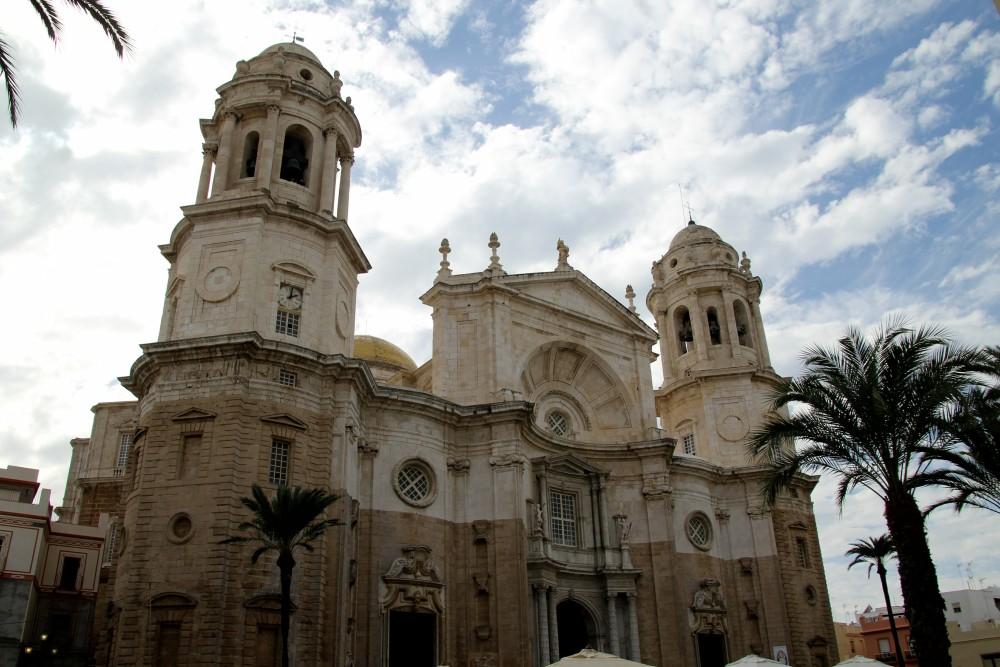 Fachada de la catedral de Cádiz autor Manuel Ramallo