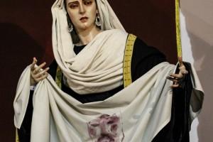Imagen escultura de la Verónica en la antigua catedral de Cádiz iglesia de Santa Cruz