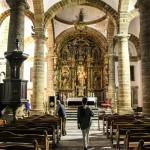 Nave central de la catedral antigua o vieja de Cádiz iglesia de Santa Cruz