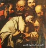 Pintura de Jesús y los apóstoles con el dedo en la llaga catedral de Jerez de la Frontera Cádiz