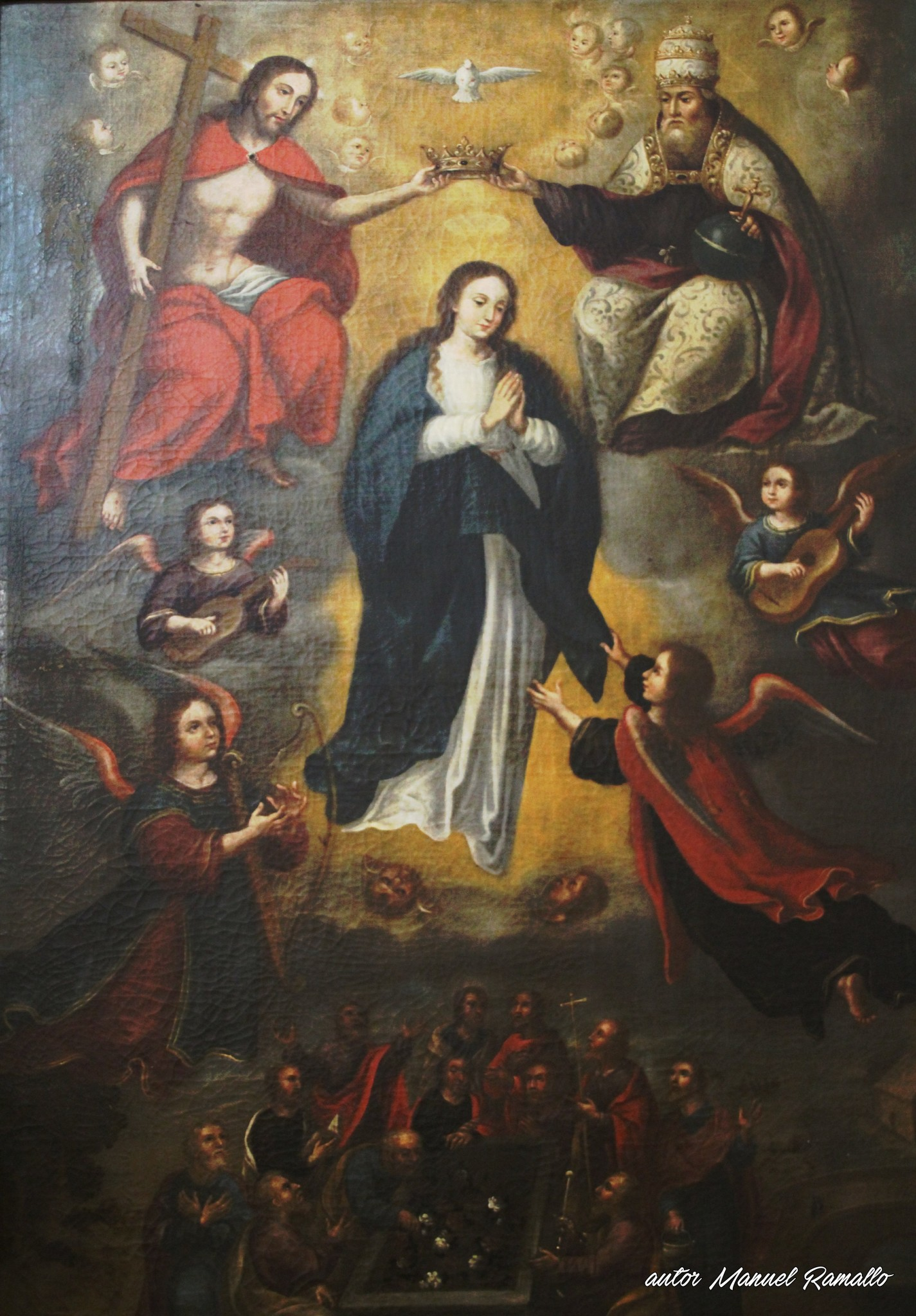 Pintura de la Ascensión de la Virgen catedral de Jerez Cádiz autor Manuel Ramallo