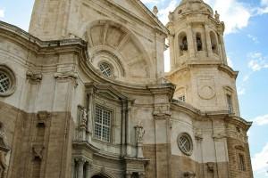 Preciosa fachada de la catedral de Cádiz