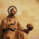 San Bruno con calavera escultura Catedral Jerez de la Frontera Cádiz autor Manuel Ramallo