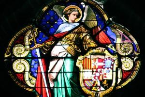 Vidriera catedral de Jerez Cadiz autor Manuel Ramallo