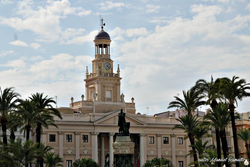 Ayuntamiento de Cádiz arquitectura vista general Andalucía España
