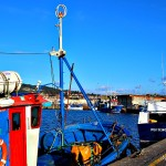 Barcos de pesca a la espera de zarpar Portonovo Sanxenxo Pontevedra