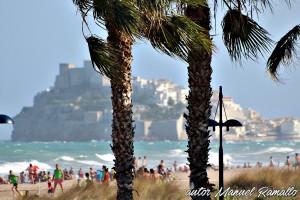 Día de playa y viento en Peñíscola Castellón