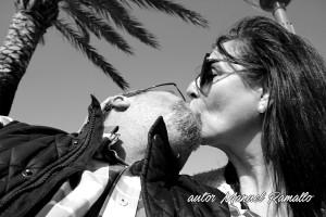 El beso en bn bw