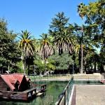 Estanque de patos en Jardín del Posío en Ourense Orense Galicia