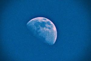 Noche de luna en cuarto menguante