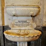 Pila de la sacristía de la catedral de Cádiz utilizada para lavarse las manos los sacerdotes