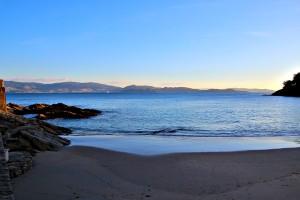 Playa de Caneliñas y ría de Pontevedra Portonovo Sanxenxo