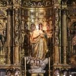 Retablo barroco Iglesia Santa Cruz Cádiz antigua catedral