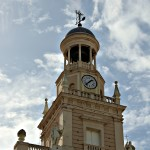 Torre del reloj ayuntamiento de Cádiz Andalucía España