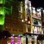 Edificio avenida de la Constitución Sevilla vista nocturna